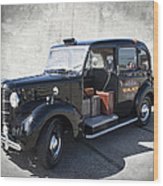 Hackney Carriage Austin Fx3 Of London C. 1955 Wood Print