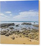 Hadera Mediterranean Beach Wood Print