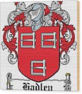 Hadley Coat Of Arms Irish Wood Print
