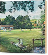 Hadlow Cricket Club Wood Print