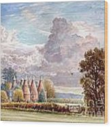 Hadlow Stand Of Oasts Wood Print
