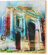 Hadrians Arch Wood Print