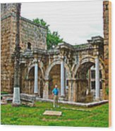 Hadrian's Gate In Antalya-turkey Wood Print