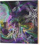 Haeckel Sea Wood Print