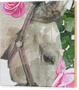 Haggis The Highland Rose Wood Print