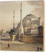 Haghia Sophia, Plate 17 Exterior View Wood Print by Gaspard Fossati