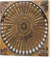 Hagia Sofia Ceiling Wood Print