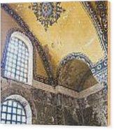 Hagia Sofia Interior 14 Wood Print