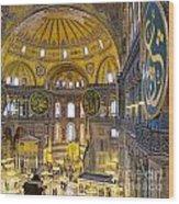 Hagia Sofia Interior 17 Wood Print