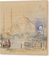 Hagia Sofia Wood Print by Joseph Mallord William Turner