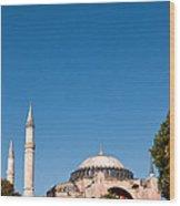 Hagia Sophia Blue Sky 02 Wood Print