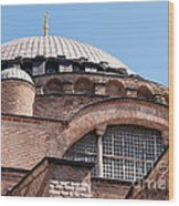 Hagia Sophia Curves 01 Wood Print