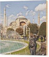 Hagia Sophia Editorial Wood Print by Antony McAulay