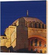 Hagia Sophia Evening Wood Print