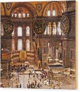 Hagia Sophia Interior 04 Wood Print