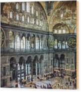 Hagia Sophia Interior Wood Print by Joan Carroll
