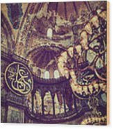 Hagia Sophia Lighting Wood Print