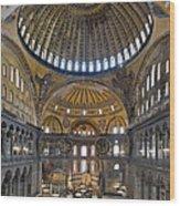 Hagia Sophia Museum In Istanbul Turkey Wood Print