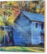 Hagood Mill With Sunrays Wood Print