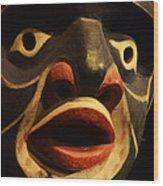 Haida Carved Wooden Mask 5 Wood Print