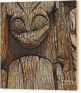 Haida Totem Wood Print by Bob Christopher