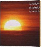 Haiku Sundown Wood Print