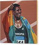 Haile Gebrselassie Wood Print by Paul Meijering