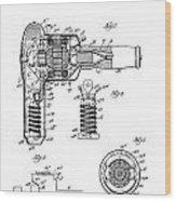 Hair Dryer 3 Patent Art 1931 Wood Print