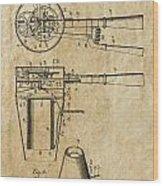 Hair Dryer Patent Art 1911 Wood Print