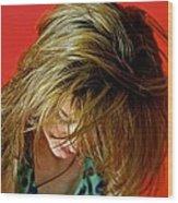 Hair Wood Print by Roberto Galli della Loggia