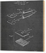 Hair Straightener Patent From 1909 - Charcoal Wood Print