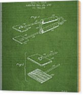 Hair Straightener Patent From 1909 - Green Wood Print
