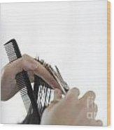 Hairdresser Wood Print
