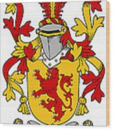 Hale Coat Of Arms Irish Wood Print