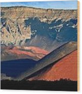 Haleakala Cinder Cones Lit From The Sunrise Within The Crater Wood Print