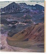Haleakala Summit Crater Wood Print