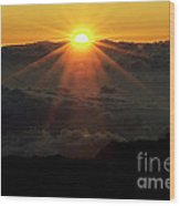 Haleakala Sunrise Wood Print