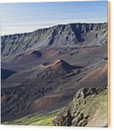 Haleakala Sunrise On The Summit Maui Hawaii - Kalahaku Overlook Wood Print by Sharon Mau