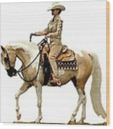Half Arabian Western Pleasure Wood Print