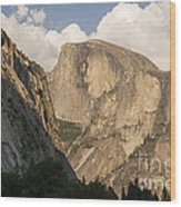 Half Dome As The Sun Drops In The Sky Wood Print