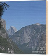 Half Dome In Distance Wood Print