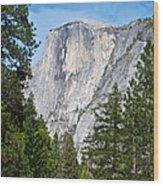 Half Dome In Spring In Yosemite Np-2013 Wood Print