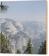Half Dome Panorama View Wood Print