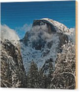 Half Dome Winter Wood Print