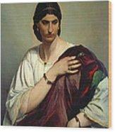 Half-length Portrait Of A Roman Woman Wood Print