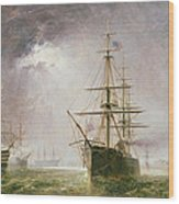 Half Mast High 19th Century Wood Print