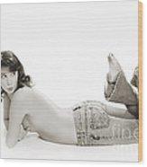 Half Nude Looking Back 1040.01 Wood Print