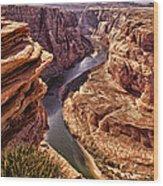 Half Of Horshoe Bend - Page Az Wood Print
