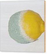 Half Rotten Lemon Wood Print by Sami Sarkis