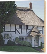 Half-timbered Thatched Cottage Wood Print